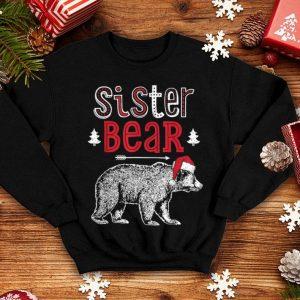 Beautiful Sister Bear Christmas Santa Family Matching Pajamas shirt