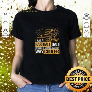 Cool Alabama Crimson Tide I Am A Baseball Dad Way Cooler shirt 1