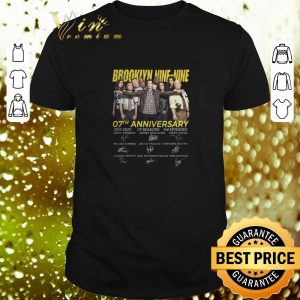 Cool Brookiyn 99 Nine-Nine 07th anniversary 2013-2020 signatures shirt
