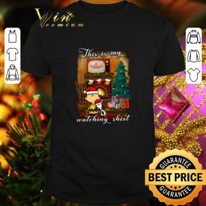 Cool Charlie Brown Snoopy This is my Hallmark Christmas movie watching shirt