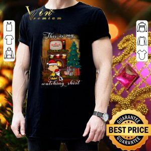 Cool Charlie Brown Snoopy This is my Hallmark Christmas movie watching shirt 2