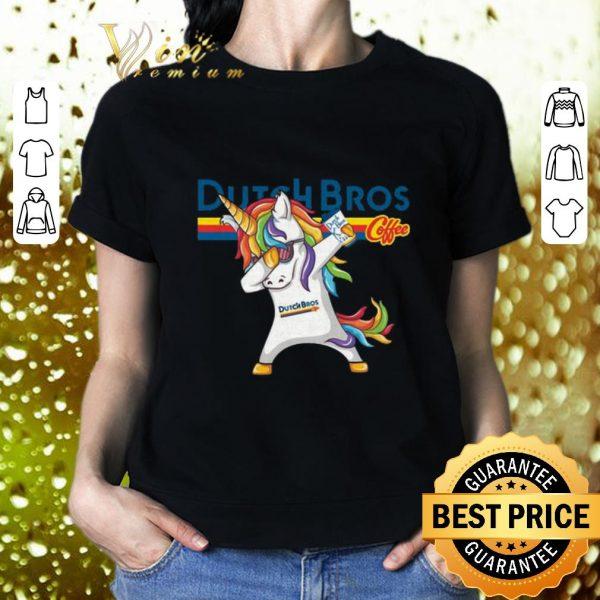 Cool Dabbing unicorn Dutch Bros Coffee shirt
