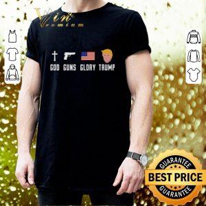 Cool God Guns Glory Trump shirt 2