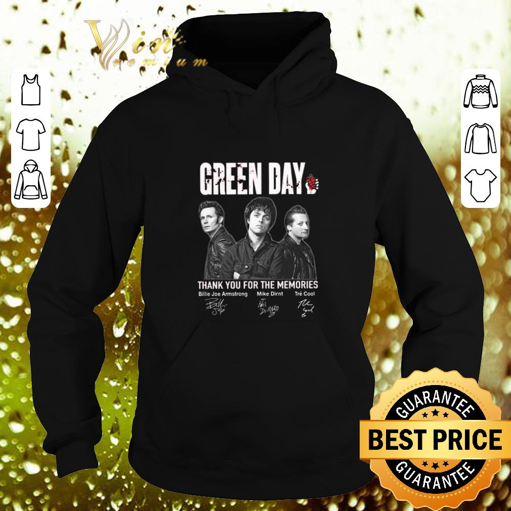 Cool Green Day thank you for the memories signatures shirt 4 - Cool Green Day thank you for the memories signatures shirt