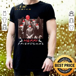 Cool Horror Movie Characters Merry Friendsmas Christmas shirt 2