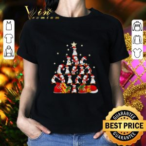 Cool Penguins Christmas tree shirt