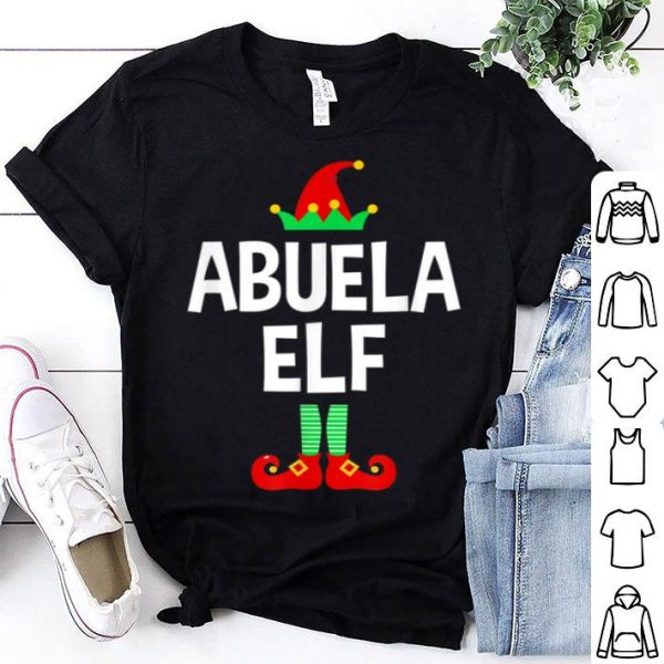 Hot Abuela Elf Family Christmas Pajamas sweater