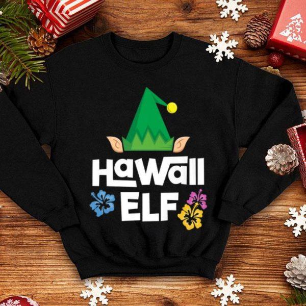 Hot Hawaii Elf Christmas Mele Kalikimaka Family Holiday shirt