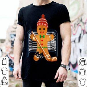 Hot Hockey Goalie Funny Christmas Gingerbread Man Goalie shirt