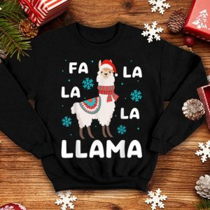 Hot Pajamas Xmas Fa La La Llama Kids Women Christmas Pajama Gift shirt
