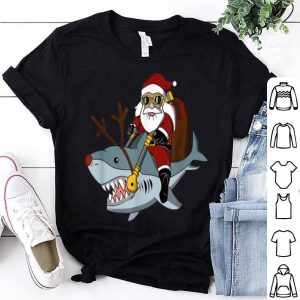 Hot Santa Big Shark Ugly Christmas Funny Pajama Gift Cute sweater