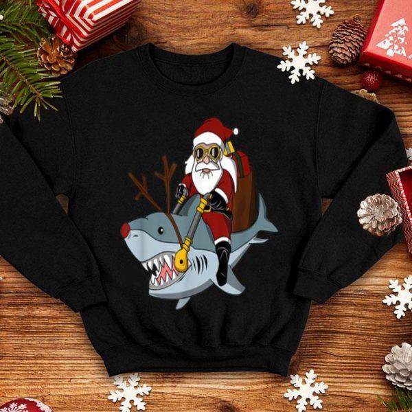 Hot Santa Big Shark Ugly Christmas Funny Pajama Gift Cute sweater