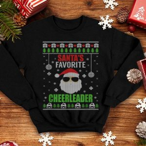 Hot Santa's Favorite Cheerleader Ugly Christmas Style shirt