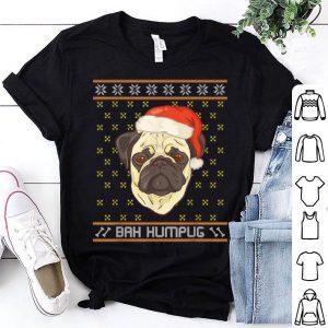 Hot Ugly Christmas Pug Bah Humbug shirt
