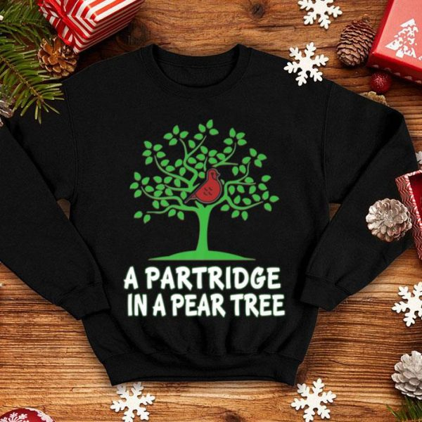 Nice A Partridge in Pear Tree Song 12 Days Christmas Tee shirt
