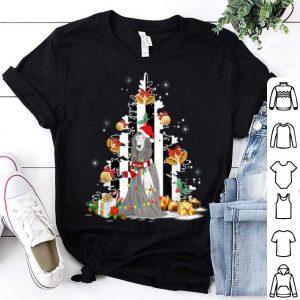 Nice Afghan Hound Santa Hat Christmas USA Flag Dog Gift shirt