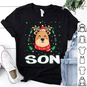 Nice Cute Son Reindeer Santa Ugly Christmas Family Matching shirt