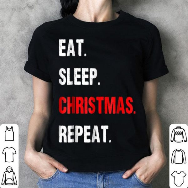 Nice Eat Sleep Christmas Repeat Cute Funny Christmas sweater
