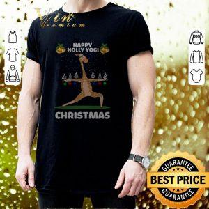 Nice Giraffe Happy Holly Yogi Christmas shirt 2