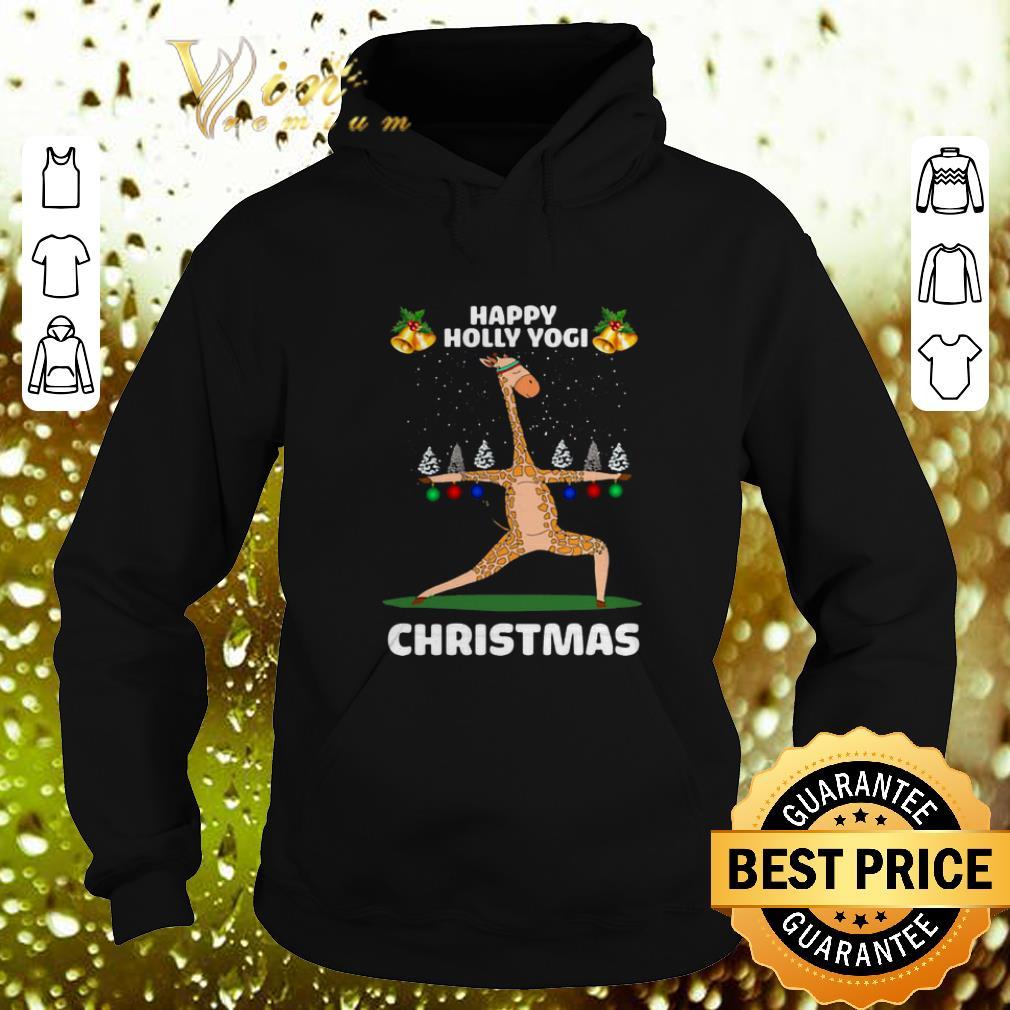 Nice Giraffe Happy Holly Yogi Christmas shirt 4 - Nice Giraffe Happy Holly Yogi Christmas shirt