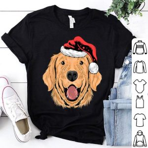 Nice Santa Golden Retriever Puppy Dog Funny Christmas Gift shirt