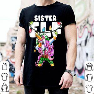 Nice Sister Elf Christmas Dabbing Unicorn Costume Gift for Girls sweater
