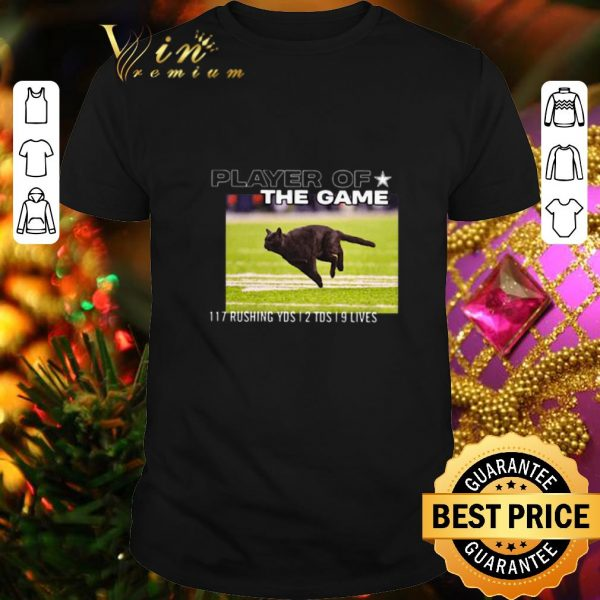 Official Cat player of the game 117 rushing yds 2 tds 9 lives shirt