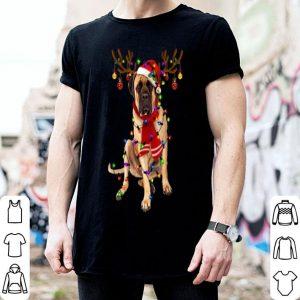 Official English Mastiff Christmas Reindeer Christmas Lights Pajama shirt