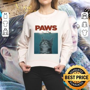 Official Jaws Paws cat meow shirt