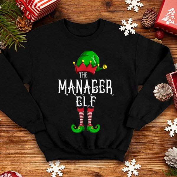 Official The Manager Elf Group Matching Family Christmas Gifts Boss shirt
