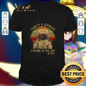 Official There's a starman waiting in the sky bowie vintage shirt