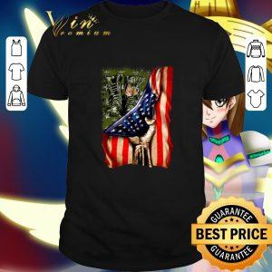 Official Veteran your name American flag shirt