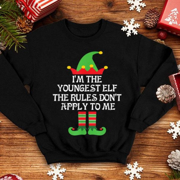 Original The Youngest Elf Family Matching Group Christmas Gift shirt