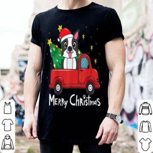 Premium Boston Terrier Christmas Truck Tree Mom Dad Dog Xmas Gift sweater