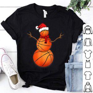 Premium Christmas Basketball Balls Santa Snowman shirt