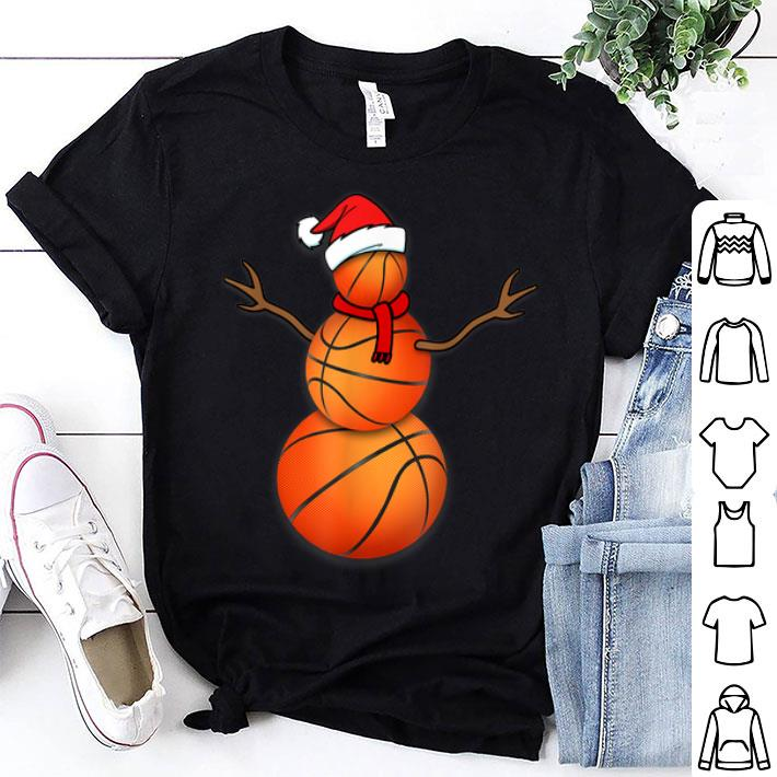 Christmas Basketball Snowman Santa Zip Hooded Sweatshirt