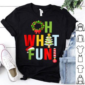Premium Oh What Fun Christmas With Wreath And Tree shirt