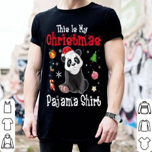 Premium This is My Christmas Pajama Red Santa Hat Panda shirt