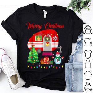Pretty Camping Christmas-Happy Camper Christmas shirt