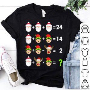 Pretty Math Teacher Christmas - Order of Operations Quiz shirt
