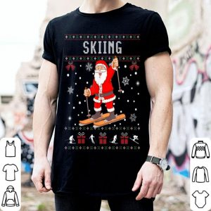 Pretty Skiing Santa Claus Ugly Christmas Sweater Lover Sport shirt