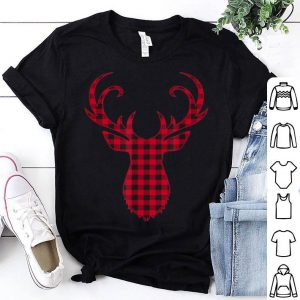 Top Plaid Reindeer Deer Christmas Pajama Matching Family sweater