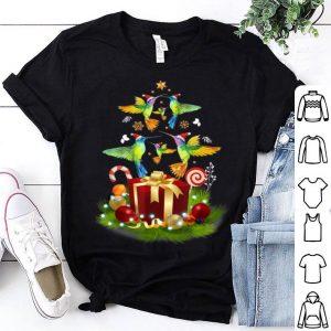 Top Santa Hummingbird Christmas Tree Funny Xmas Gift Hummingbird shirt