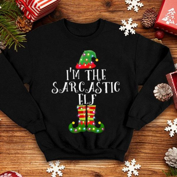 Awesome I'm The Sarcastic Elf Christmas Matching Family Group Funny sweater