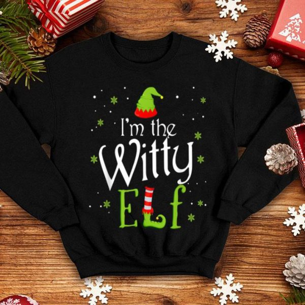 Awesome I'm The Witty Elf Funny Group Matching Family Xmas Gift sweater