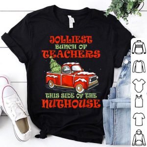 Awesome Jolliest Bunch Of Teachers Funny Christmas Gift sweater