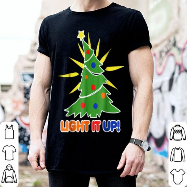 Awesome Light it up Christmas Tree funny xmas trees sweater