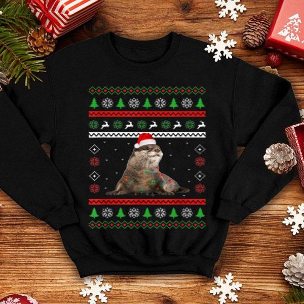 Awesome Otters Christmas Ugly Sweater Style Pajama Xmas Gift sweater