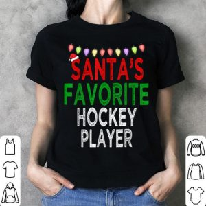 Awesome Santa's Favorite Hockey Player Christmas Xmas Lights Hat sweater