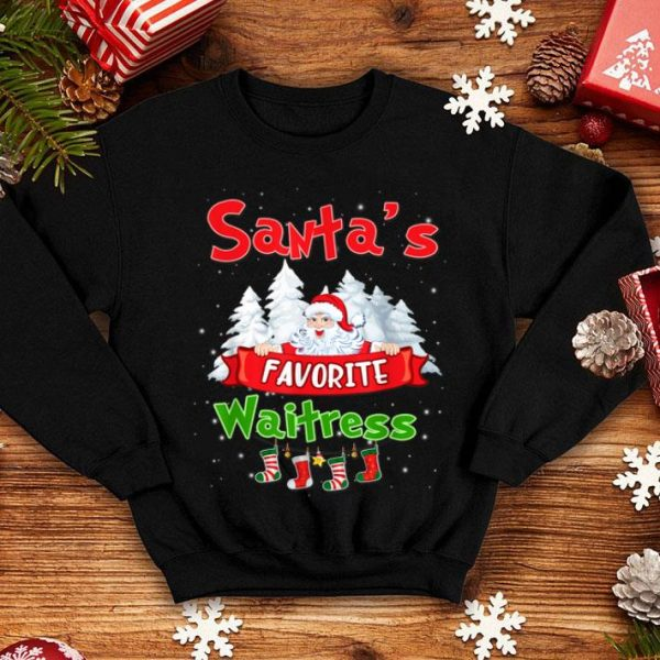 Awesome Santa's Favorite waitress Funny Christmas 2019 Gift sweater
